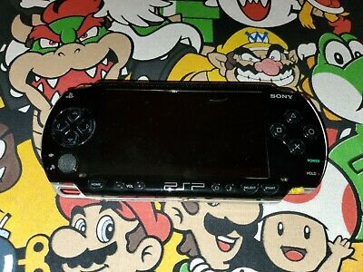 SONY PLAYSTATION PORTABLE PSP 1001 BLACK HANDHELD GAMING CONSOLE
