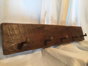 Hand-Crafted, Reclaimed, Wall-Mounted Railroad Spike Coat Rack