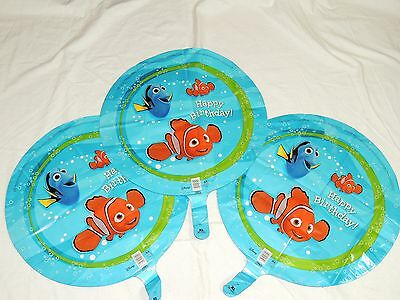 NEW  NEMO- HAPPY BIRTHDAY   3-MYLAR -BALLOON 18