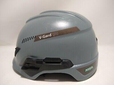Msa V-gard H1 Vented Safety Helmet Hard Hat With Fas-trac Suspension - Grey