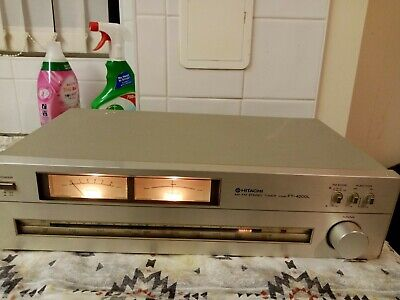 Vintage Silver Hitachi FT-4000L FM Stereo / FM/AM/LW Hi Fi Tuner. Made in Japan