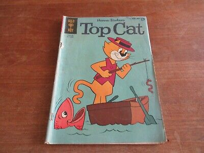 TOP CAT #4 GOLD KEY SILVER AGE MID GRADE 1960'S TV CARTOON SHOW