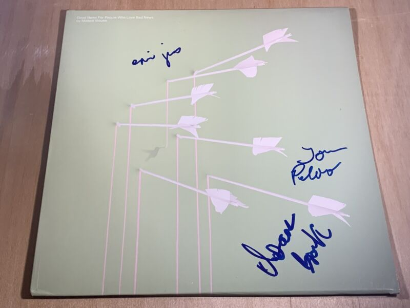 Modest Mouse signed Good News for People that Love Bad News Vinyl Lp X3 Proof