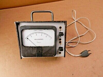 Simpson Millieramperes Gauge Direct Current Frequency Meter Vintage