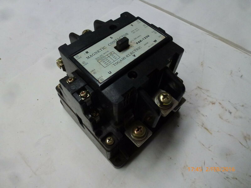 Togami PAK-125U Magnetic Contactor 415V 50Hz 37-60kW 150A 3ph NP-15478 New