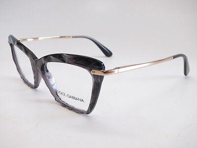 Authentic Dolce & Gabbana DG 5025 504 Transparent Grey/Gold Eyeglasses (Dolce Gabbana Glasses For Men)