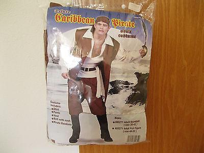 Men's Deluxe CARIBBEAN PIRATE Halloween Costume Size Adult Standard - Pirate Halloween Costume For Men Caribbean Pirate