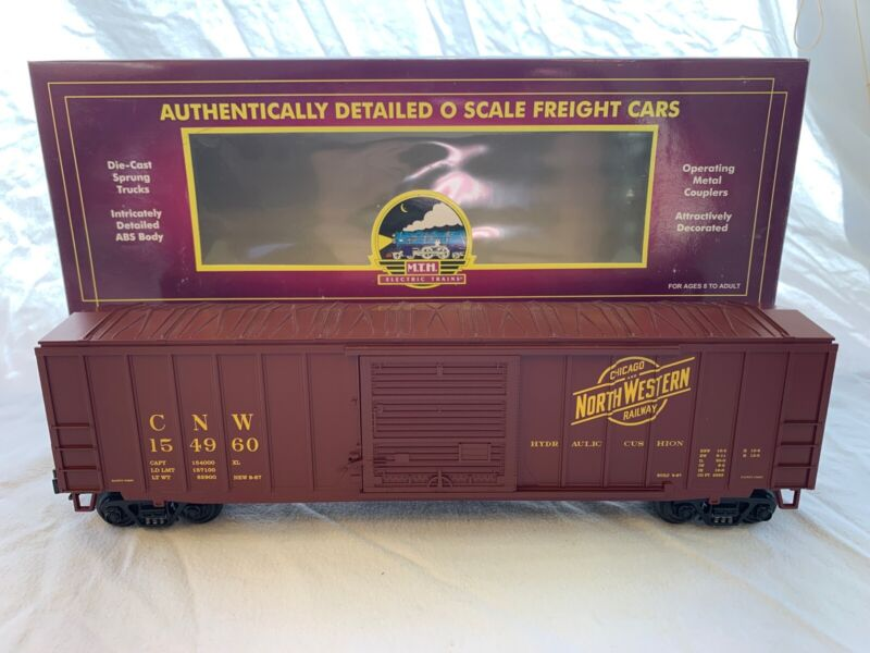 MTH Premier 20-90016E Chicago Northwestern 50' Single Door Boxcar NIB O Gauge