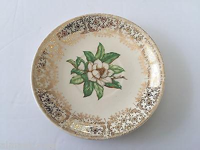 Stetson China CAMILLE Gold Filigree, White Flower Center - 5-3/4