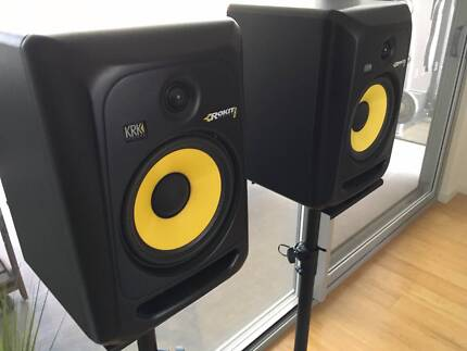 Studio monitors with stands
