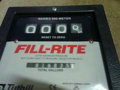 Tuthill 900 Series Fill-rite Meter For Fuel Transfer Pumps 4 Digit Used
