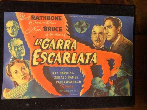 1944 Sherlock Holmes Scarlet Claw Rathbone Original Spanish Movie Herald RoyNeil