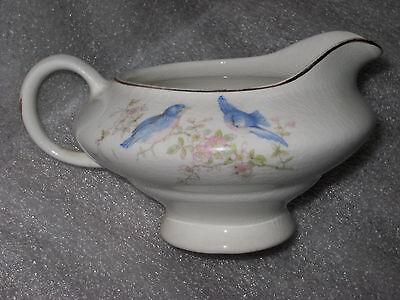 Vintage BlueBird China Creamer Blue Birds Ribbon Floral KTK Gold trim SWEET