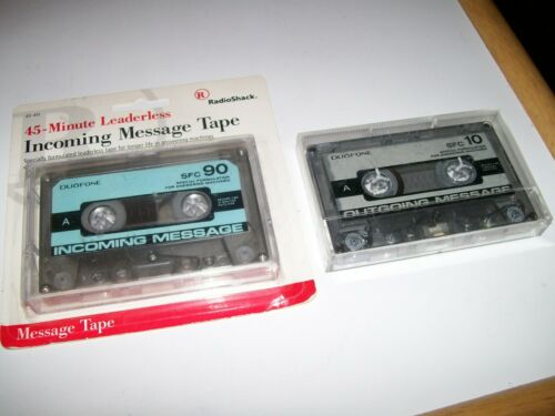 2 Vintage Duofone Cassette Tapes - SFC90 Incoming Message & Used SFC10 Outgoing