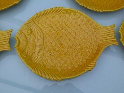 Superbe assiette à poisson par NOVE Italy lot de 6 - 28 cm de long