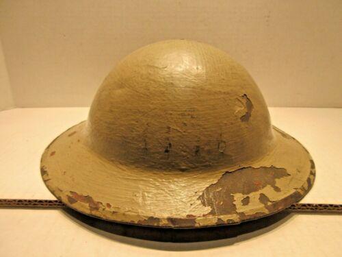 World War II British Mark II Army Steel Helmet Normandy North Africa Brodie Type