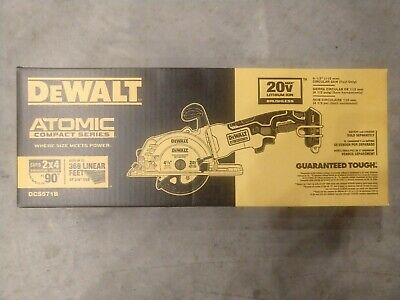 DEWALT DCS571B ATOMIC 20V MAX BL 4-1/2 in. Circular Saw (Tool Only) - NEW !!!!!!