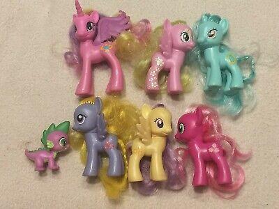 Hasbro My Little Pony G4 Brushables Lot, Spike, Cadence, Sunny Days, Lyra, Lilly