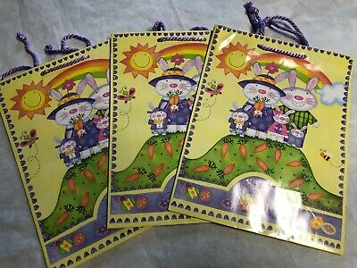 Lot of 3 American Greetings Easter Gift Bags Yellow and Blue New](Easter Gift Bags)