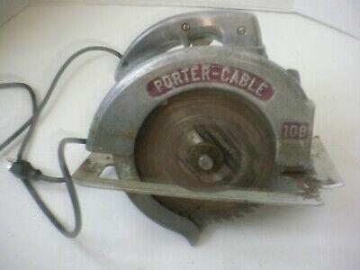 Vintage Porter Cable Model 108 All Metal Case 8 Circular Saw Vgc