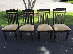 Ensemble 4 chaises + banc*