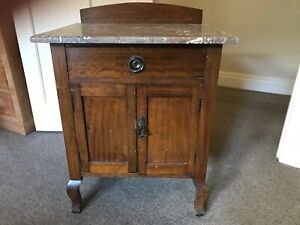 Antique Wash Stand with marble top, in good condition