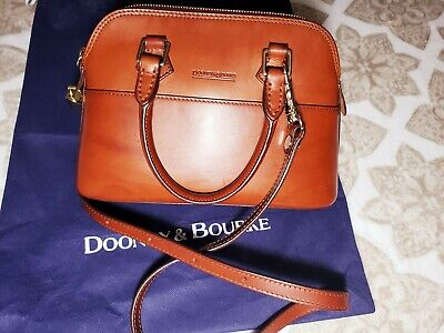 Dooney And Bourke Domed ALTO LEATHER Handbag - Natural BROWN