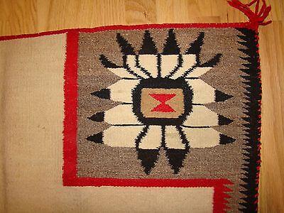 Antique Pictorial Navajo Saddle Blanket Rare Native American rug weaving