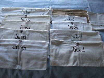 AUTHENTIC VINTAGE GUCCI EMPTY DUST SLEEPER BAGS FOR PURSES HANDBAGS LOT 11