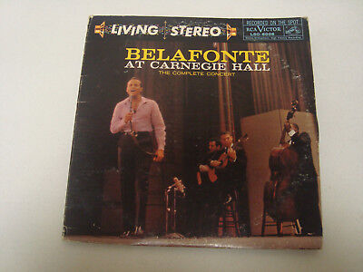 Harry Belafonte At Carnegie Hall Live 2 Lps Rca