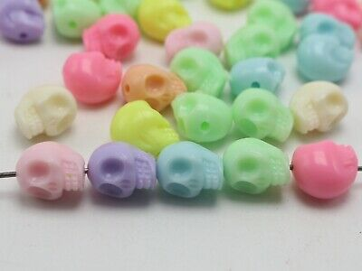 50 Mixed Pastel Color Acrylic Halloween Gothic Beads 13mm Jewelry Making](Halloween Making)