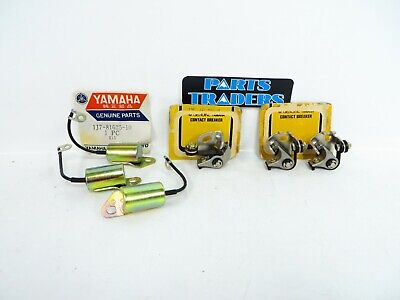 NOS Genuine Yamaha Ignition Tune Up Points & Condensers XS750 XS750-2 1977