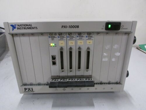National Instruments NI PXI-1000B 184607B-01 Mainframe (4) 6052e (1) 8335 MXI-3