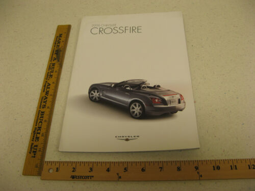 2006 06 Chrysler Crossfire Coupe Convertible Roadster Brochure 30 Pages BR109