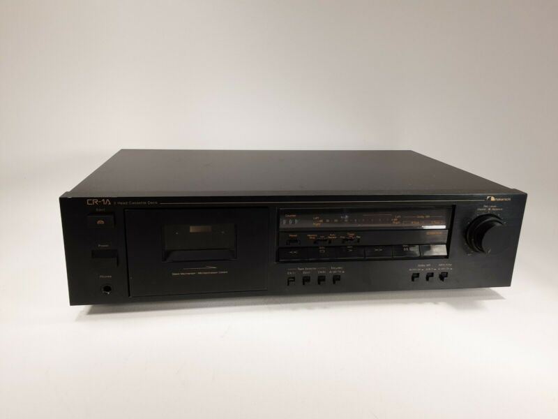 Vintage Nakamichi CR-1A Stereo 2 Head Cassette Deck Tested and Working