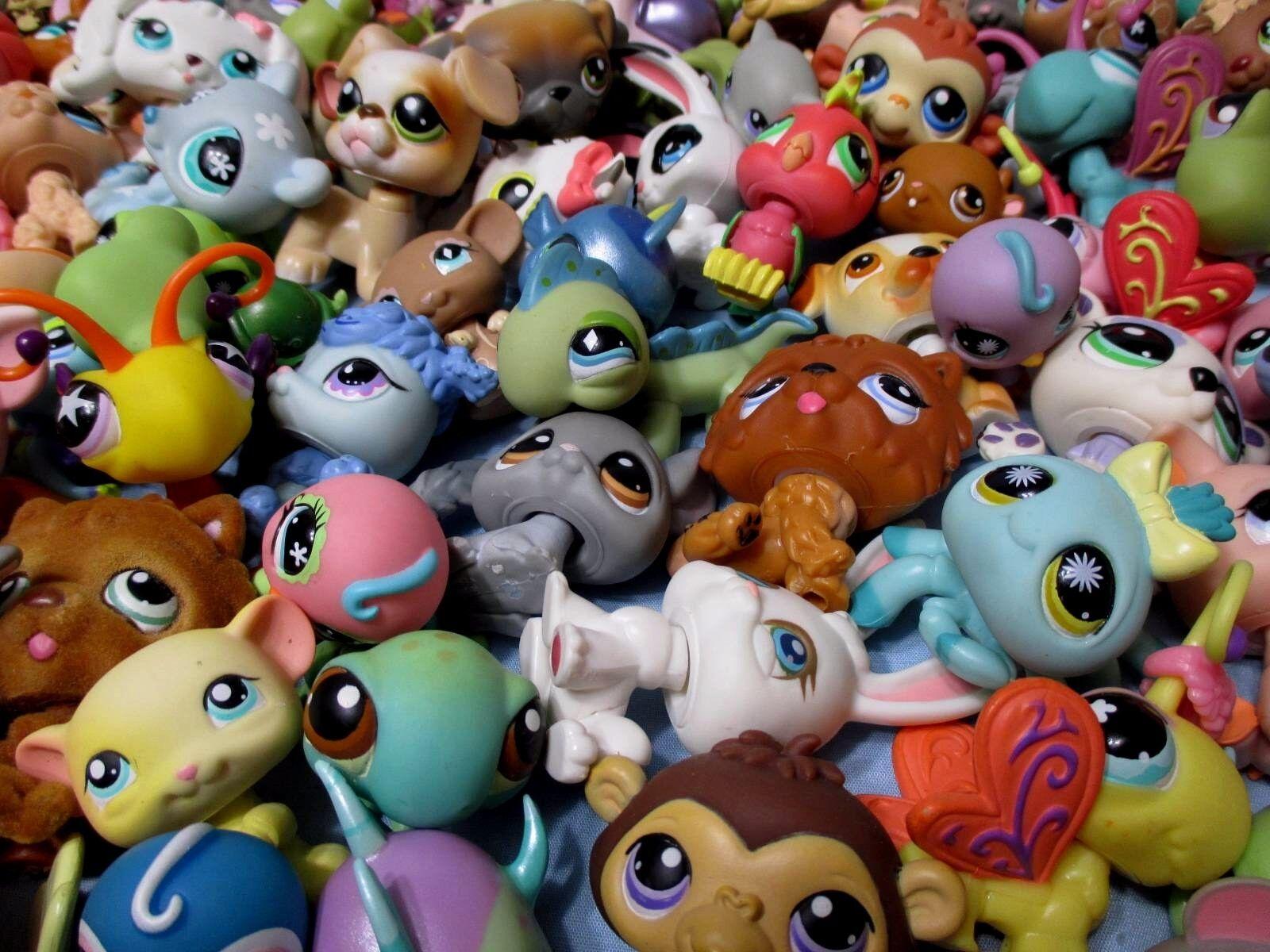Littlest Pet Shop Mixed Lot 10 Pcs Surprise Random Pet Figures 100%Authentic LPS