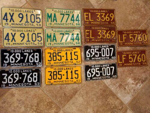 1950-1958 License Plate Sets
