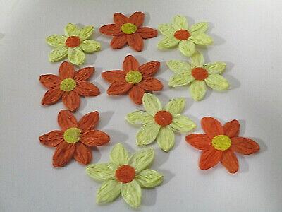 Dekoration Deko 10 Papier Krepp Blumen Draht Kunstblumen Basteln Blüten Streuer
