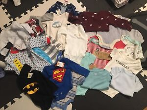 0-3 and 3-6 month clothing lot, mostly all brand new $20 for all