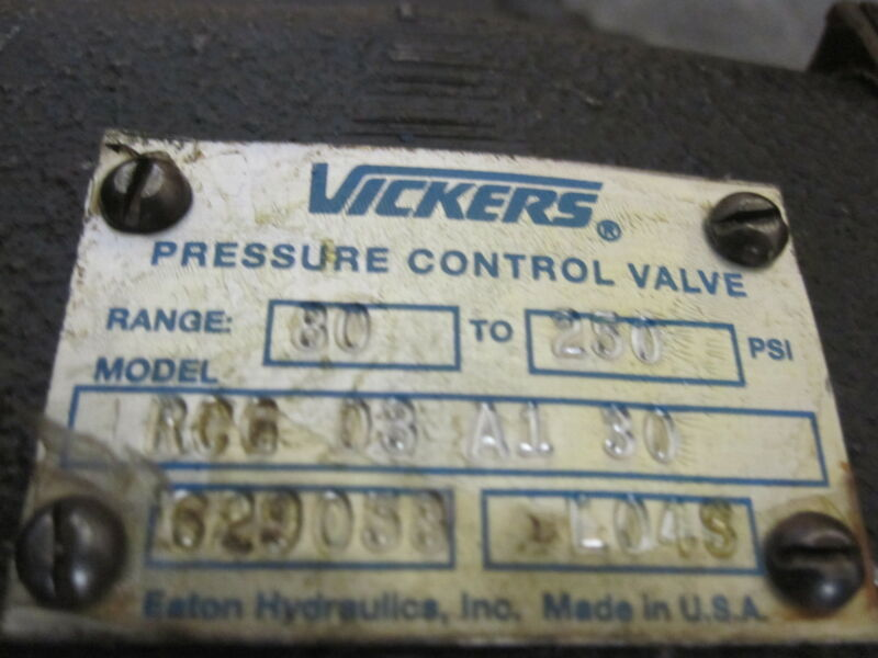 VICKERS RCG-03-A1-30 PRESSURE CONTROL VALVE 629058