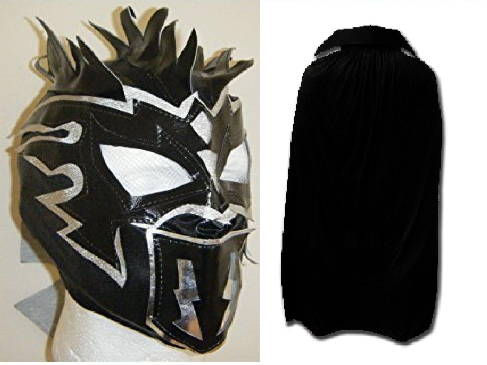 Kalisto Maske Schwarz Umhang Kinder Wrestling Neu Kostüm Cosplay Wwe