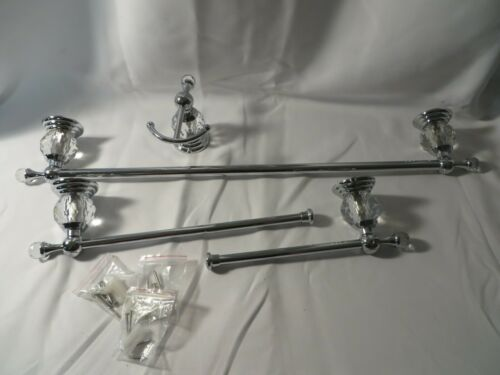 AUSWIND- 4 Piece Set of Glass Bathroom Wall Fixture Set