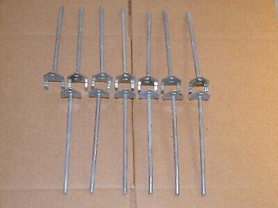 Peg Board Hooks Lot Of 13 14 Inch Heavy Duty Steel By 6 Inches