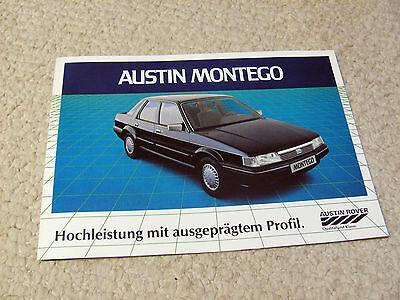 1980s AUSTIN & MG MONTEGO (UK) SALES BROCHURE..