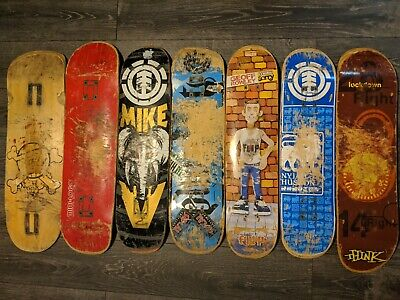 Skateboard Deck Lot Used Mini Logo Element Nyjah Vallely Rowley Think