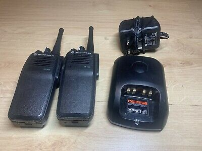 Motorola DP3400 UHF Two-Way Radios w/Batteries and Charger