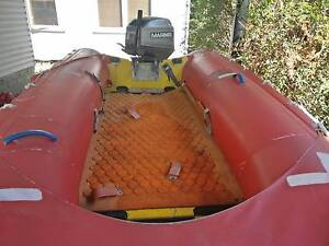 3.88m Inflatable Boat Rubber Duckie w/30HP Mariner w/trailer West Pymble Ku-ring-gai Area Preview