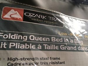 Collapsable queen size bed frame missing air mattress $20