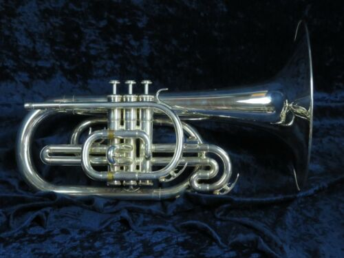 Yamaha YMP-203M Silver F Mellophone Ser#817102 Plays as Good as it Looks!