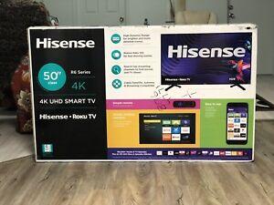 "Télévision 50"" Hisense 4K UHD Smart TV Roku"